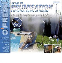 """Rampe de brumisation sur pied avec douche de jardin """"Nomade"""" O'FRESH ® http://deco-maison-fr.com/article/1160/rampe-de-brumisation-sur-pied-avec-douche-de-jardin-nomade-o-fresh#sthash.3BCdoFIX.dpbs"""