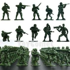 50 pcs Military Plastic Toy Soldiers Army Men Green 1:36 Figures 10 Poses - http://hobbies-toys.goshoppins.com/toy-soldiers/50-pcs-military-plastic-toy-soldiers-army-men-green-136-figures-10-poses/