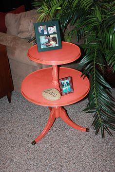 Vintage Round 2 Tier Dumbwaiter/Side Table