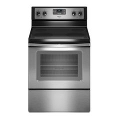 Whirlpool 30-in Freestanding Smooth Surface 4-Element 4.8 cu ft Self-Cleaning Electric Range (Stainless Steel)