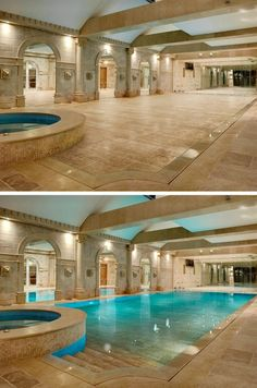 Hide-away swimming pool...