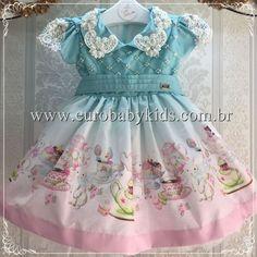 Vestido Infantil Alice Corpo Matelassê Anjo D'água na Euro Baby Kids
