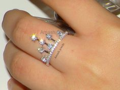 Price:$18/Sterling Silver Ring# Buyable pins#On Trend #Crown Ring#Stacking Rings #Silver jewelry#