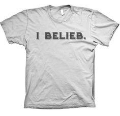 I Belieb Tee Shirt - Justin Bieber Fans Belieb Believe Silver TShirt   #CUT4BIEBER