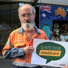 Townsville Sunday markets ... As this gentleman put it we fund Medicare through our taxes and pay for its services with our Medicare card. Medicare card not credit card Malcolm Turnbull my health is not for profit.