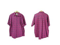 Men's XL Purple Button Down Paisley Print by IntertwinedVintage