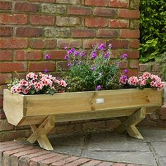 Forest Garden 1.2m Wooden Mini Garden Trough Planter