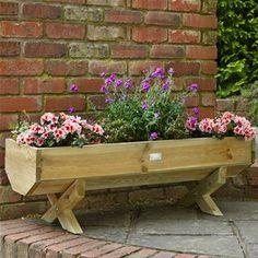 Forest Garden 1.2m Wooden Mini Garden Trough Planter