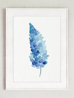 Bluebonnet Art Print Home Decor. Blue and Indigo Set of 3 Baby Boy Nursery Illustrations. Blue Bonnet Watercolor Painting Kids Room Minimalist Canvas Modern Illustration. A price is for the set of three Bluebonnet Art Prints as in the first Picture. In the first Picture the