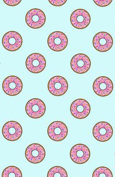 Cartoon Donuts Blue Sky Pattern Art Print by directgifts - X-Small Broken Screen Wallpaper, Normal Wallpaper, Kawaii Wallpaper, Cute Wallpaper Backgrounds, Print Wallpaper, Wallpaper Iphone Cute, Cute Cartoon Wallpapers, Cool Wallpaper, Donut Background