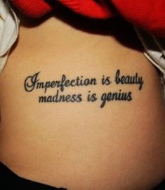 "Favorite quote but the whole quote by Marilyn Monroe. ""Imperfection is beauty, madness is genius. It's better to be absolutely ridiculous than absolutely boring."" Arm Tattoo, Tattoo You, Leg Quote Tattoo, Collar Bone Tattoo Quotes, Colar Bone Tattoo, Tattoo Quotes For Men, Text Tattoo, Bone Tattoos, Leg Tattoos"