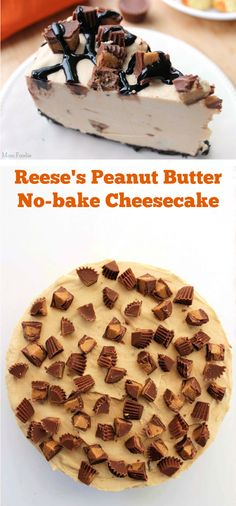 Reese's Peanut Butter No-Bake Cheesecake easy recipe