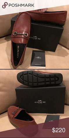 Men's Coach Loafer Shoes New still in box. Very nicely design men's Loafer by Coach. Brown leather. Coach Shoes Loafers & Slip-Ons