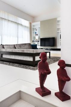 modern living room by S.I.D.Ltd love the sculptures