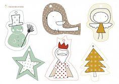 Tarjetas-Adornos de Navidad   Descargables Gratis para Imprimir: Paper toys, Origami, tarjetas de Cumpleaños, Maquetas, Manualidades, decoraciones fiestas, dibujos para colorear. Printable Freebies, paper and crafts