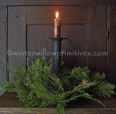 Colonial primitive decor Winter Willow Primitives