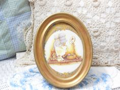 Hollie Hobbie Picture in Gold Frame. by Daysgonebytreasures