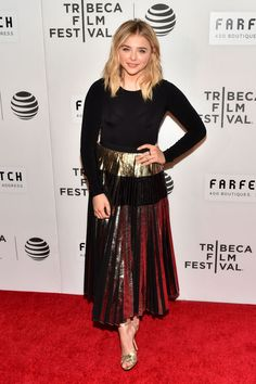 CHLOE MORETZ at 'First Monday in May' Premiere at Tribeca Film Festival 04/13/2016
