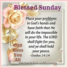 Exodus 14 14, Blessed Sunday, Fight For You, Have Faith, Hold On, Spirituality, Lord, Peace, Naruto Sad
