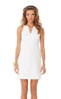 Reception dress: Lilly Pulitzer Gabby Shift Dress in Resort White