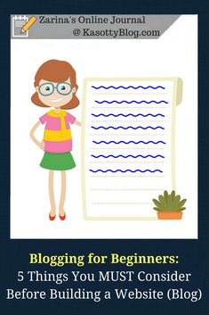 Blogging tips for beginners: The 5 things you MUST consider before building a website (starting a blog). #blogtips #bloggingtips #bloggingforbeginners #forbeginners #gettingstartedonline #blogging #blogger #becomeablogger #howtobecomeablogger #toronto #nyc