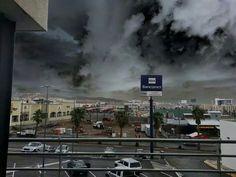 Un dia lluvioso en Chihuahua capital. Con las nubes miy densas.