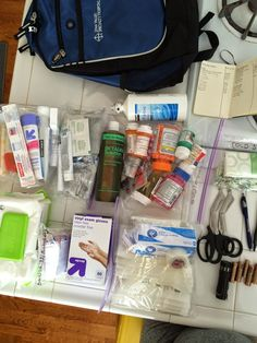 Make Your Own Family First-Aid/Hygiene Kit!! Super easy and totally necessary!