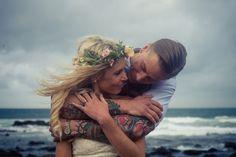 beautiful wedding photos of bride and groom beach - Google Search