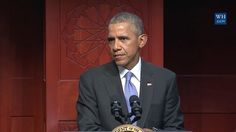 President Obama speaking at Muslim Mosque