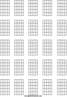 Blank Guitar, Ukulele and Bass Sheet Music For Hand