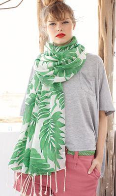 Palm leaf scarf