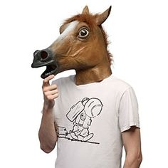 The Horse Head Mask.  Now you can have your own high-quality latex horse-head mask. Keep it in your car for when that Street-View van rolls by. Bring it to your next board-meeting and impress the executives. Take it with you on your next evening out with the boys. You never know when some random event can be made awesome by the inclusion of a horse-head mask! $25.99
