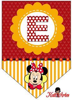 Oh my Alfabetos!: Banderines de Minnie... translated: Minnie Banners