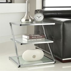 Shop for Chrome Finish Glass Chair Side End Table. Get free shipping at Overstock.com - Your Online Furniture Outlet Store! Get 5% in rewards with Club O!