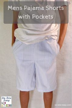 Men's Pajama Shorts - comfortable and good enough to be worn around the house or relaxing with a coffee and the paper!