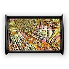 El Dorado Coffee Tray El Dorado - Golden Geometric Terrains  $41.99