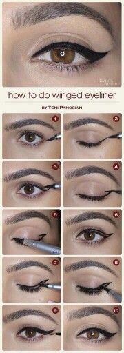 Different and Easy Ways to Apply Eyeliner.How to Apply Liquid Eyeliner for Beginners .Pencil Eyeliner Tricks to Make Your Eyes Pop .How to Apply Eyeliner Perfectly: Step by Step Tutorial.How to choose and apply eyeliner .Using eyeliner How To Do Winged Eyeliner, Winged Eyeliner Tutorial, Winged Liner, Perfect Eyeliner, Simple Eyeliner, Perfect Makeup, Classic Eyeliner, Awesome Makeup, Cat Eye Makeup Tutorial