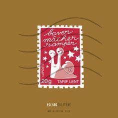 Escarg... #stamp #timbre #laposte #slow #lent #lettre #letter #escargot #snail #gastropod #funny #cute #doodle #drawing #vector #art #illustration #pun #cartoon #comics #tumblr