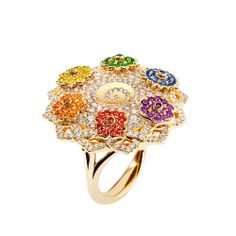 """The Chakras collection by Caspita """" """"The Chakra collection has taken shape around the seven main chakras, stemming from Indian spirituality and designating seven centres of energy in the shape of. Indian Spirituality, 7 Chakras, Druzy Ring, Bracelet Watch, Engagement Rings, Bracelets, Accessories, Jewelry, Stones"""