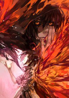Kirishima Touka & Ayato | Tokyo Ghoul. i love the warm colours.