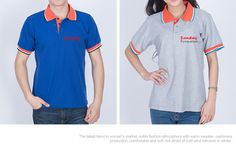 65% Cotton Color Collar Custom Logo Polo Shirts - www.sundaypromotion.com