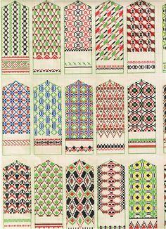tautas cimdu raksti patterns for mittens knitting patterns, embroidery patterns and folk ornaments Knitting Charts, Knitting Stitches, Hand Knitting, Knitting Patterns, Embroidery Patterns, Knitted Mittens Pattern, Knit Mittens, Knitted Gloves, Knitting Designs