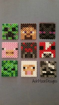 These perler bead creations are inspired by the awesome Minecraft game! I have many characters and options to choose from, but if theres one you