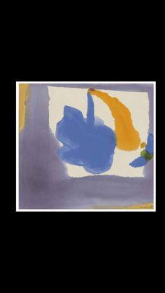 """Helen Frankenthaler - """" Mauve Frame """", 1969 - acrylic on canvas - 53,3 x 57,1 cm (*)"""