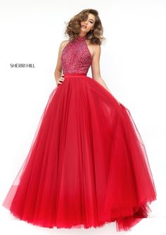 Red Evening Gown - Sherri Hill 11316