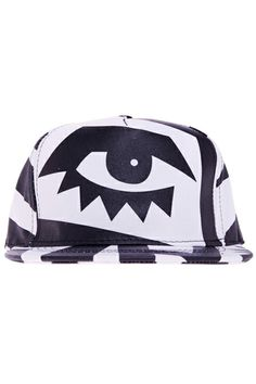 ROMWE Black & White Eyes Print Cap