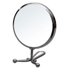 "Furnistar 5"" Round Table-Top Cosmetic Makeup Mirror Double Sided 3X Magnification Chrome Finish"