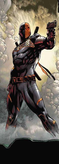 Deathstroke, my favorite villain/antihero Héros Dc Comics, Comics Anime, Comic Manga, Dc Comics Characters, Dc Heroes, Comic Book Heroes, Comic Books Art, Comic Art, Comic Pics