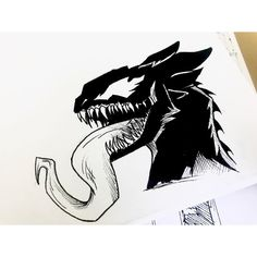 Toothless as Venom. Spyro The Dragon, Dragon Art, Night Fury Dragon, Magnificent Beasts, Httyd, Hiccup, Best Poems, Toothless, The Villain