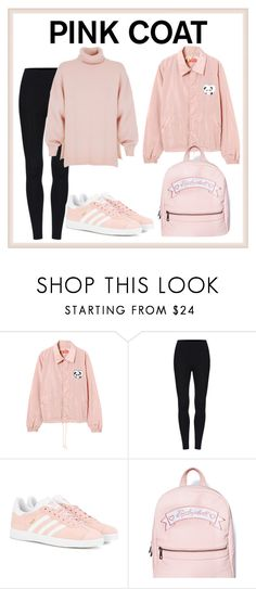 """""""pink coat"""" by dreamygirllost ❤ liked on Polyvore featuring adidas Originals, Sugarbaby and TIBI"""